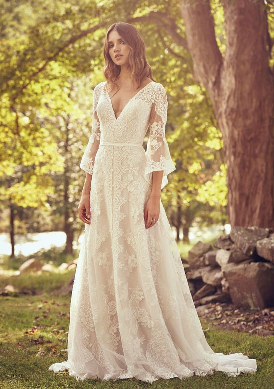 Abito da Sposa Lillian West Abito in pizzo con manica a campana by Lillian West