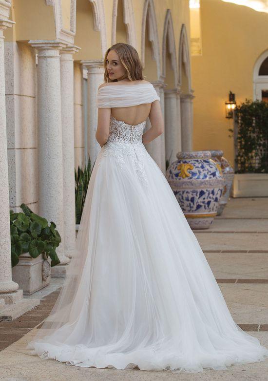 Abito da Sposa Justin Alexander Abito da sposa stile principessa in pizzo con scialle by Sincerity