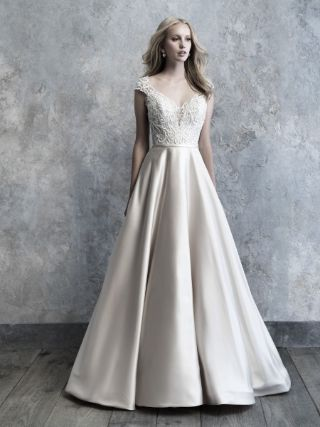 Abito da Sposa MJ506 by Allure Bridals colore Nude