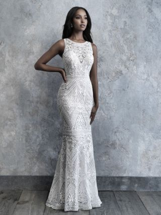 Abito da Sposa MJ507 by Allure Bridals colore Nude